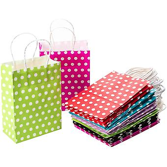 30 Stück Geschenktüten Geschenktaschen Präsenttüten Papiertüten Papiertaschen Papiertaschen Papier Tragetaschen