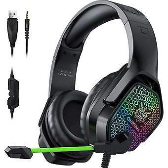 Wired Headset With Microphone Noise Canceling Rgb Gaming Headsets For Computer Ps4 Xbox One
