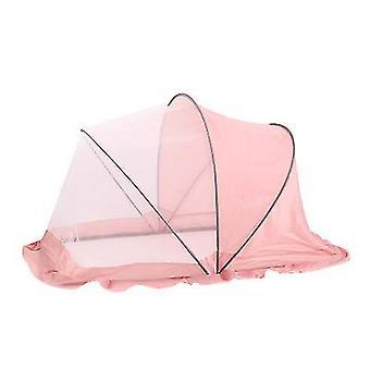 Portable Folding Crib Mosquito Net Portable Foldable Crib(Pink)