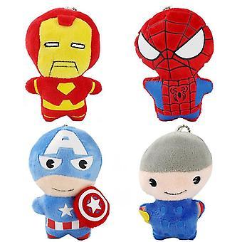 Kostajat muhkeat, Kapteeni Amerikka, Rautamies, Thor, täytetyt avaimenperänuket,