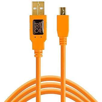 TetherPro Kabel, USB 2.0 A auf MiniB 5 Pin, USB-Kabel, 4,6 m, orange [cu5451]