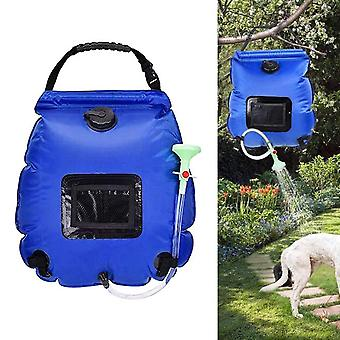 Portable solar camping shower bag 20l climbing travel water pvc bag with