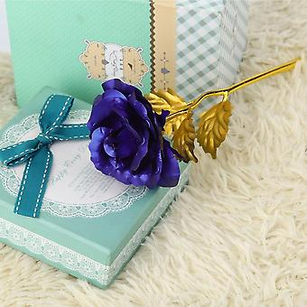 Gold Foil Plated Rose Creative Gifts Lasts Forever Rose For Lover's Wedding