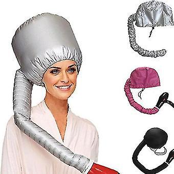 Kannettava hiustenkuivaaja öljy korkki, ei haittaa hiuksia (musta)