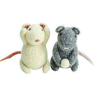 Pair of Mice Needle Felting Craft Kit for Adults