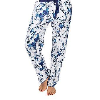 Cyberjammies Ellie 4865 Femme Blanc Léopard Imprimé Coton Pyjama Pantalon