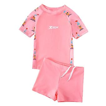 Girl's swimsuit split and one-piece sun protection