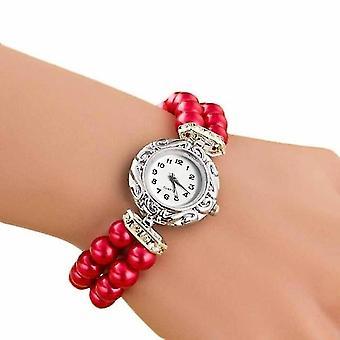 DENTON SIDPEGA Women Pearl Quartz Bracelet Watch(Red)