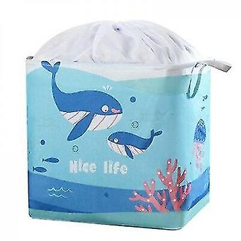 Huacreate Large Storage Bag For Clothing Cotton Quilt Moving Household Clothes Packing (blue)