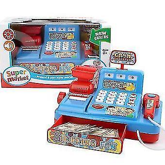 Puzzel Simulatie Kassa Home Appliance Kinderspeelhuis Speelgoed (Blauw)