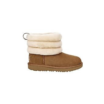 UGG Chaussures UGG Infant Girl's Chestnut Fluff Mini Quilted Logo Boot