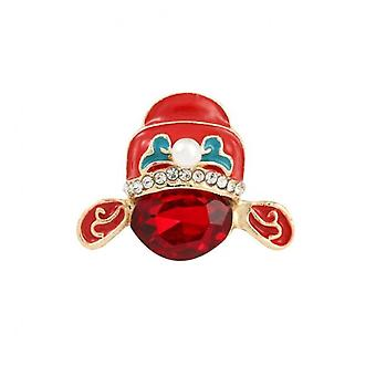 4pcs Chinese Style Hat Brooch Ruby Opera Hat Alloy Brooch