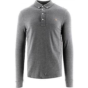 Farah Grey Marl Ricky Polo Shirt