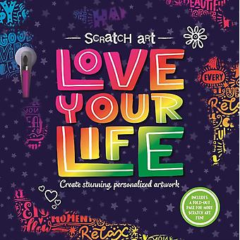 Scratch Art Love Your Life  Adult Scratch Art Activity Book by Igloobooks