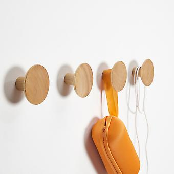 1/2/4/5 pcs Wooden Wall Hangers Punch-free Clothes Hanging Hooks