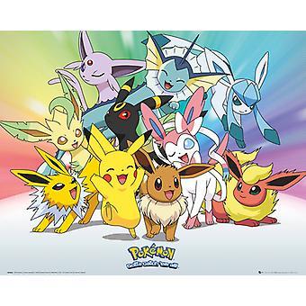 Pokemon Evoli Mini-Poster