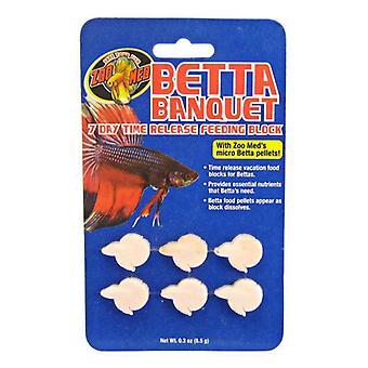 Zoo Med Akvatisk Betta Bankett - 7 Dagers Betta Feeder - .3 oz (6 Pack)