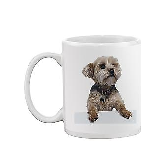 Yorkie Dog Leaning Mug -SPIdeals Designs