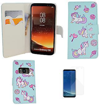 "Samsung Galaxy S8 - Portemonnee Hoesje - ""unicorn"""