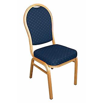 Cresdi Blue Aluminium Arched Back Banquet Chair Set Of 4