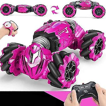 Toy cars 2.4 Ghz rc car radio gesture induction music light twist high speed stunt remote control off road