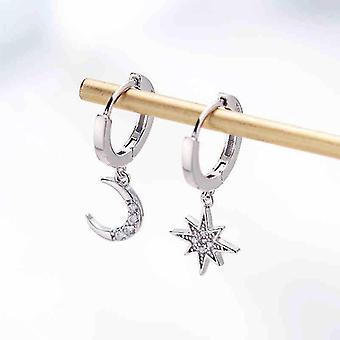 Klassische geometrische Damen-Ohrringe (Silber)