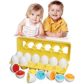 Jouets assortis pour tout-petits Oeuf de Pâques Apprentissage Jouet éducatif pour nourrissons