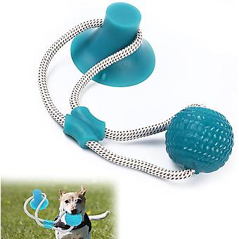 Chew Toy With Suction Cup Multifunctional Bite Toy Rubber Ball With Suction Cup Suction Cup Rope Dog Toy 2pcs