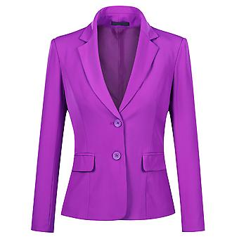 Mile Women's Slim Fit Casual Two Button Suits Coat Solid Blazer Business Jacket
