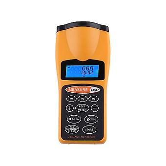 Digital Lcd Ultrasonic Distance Measure Tape Measure Laser Point Rangefinder
