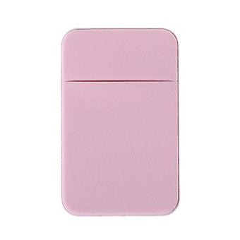 Mobile Phone Credit Card Wallet Holder Pocket Stick-on Adhesive Elastic Tool