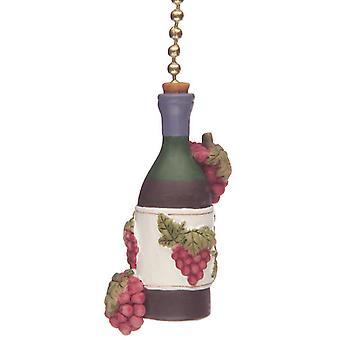 Wine Bottle Grapes Tuscany Kitchen Fan Light Pull