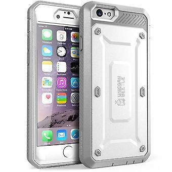 """SUPCASE Apple iPhone 6 Plus 5,5 """"asia - yksisarvinen Beetle Pro sarja suojus sisäänrakennettu näyttö - valkoinen/harmaa"""