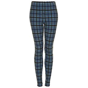 Tall Check Denim Leggings TRS252-8