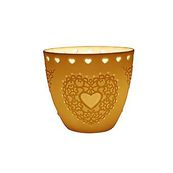 Light-Glow Heart Lithophane Tealight Candle Holder Cup