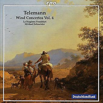 G.P. Telemann - Georg Philipp Telemann, Vol. 4: Wind Concertos [CD] USA import