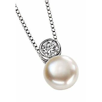 925 Silver Necklace Zirconium Pearl Pendant Necklace