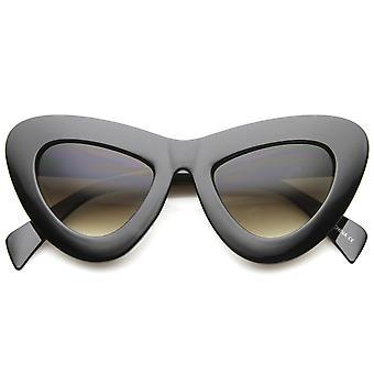 Womens vet Chunky frame gradiënt lens oversize Cat Eye zonnebril 50mm
