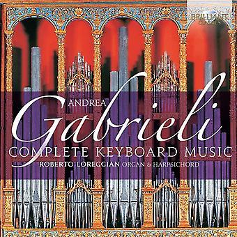 Roberto Loreggian - Gabrieli:: Importação de música para teclado completo [CD] EUA