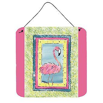 Bird - Flamingo Aluminium metalen wand of deur hangen Prints 8106