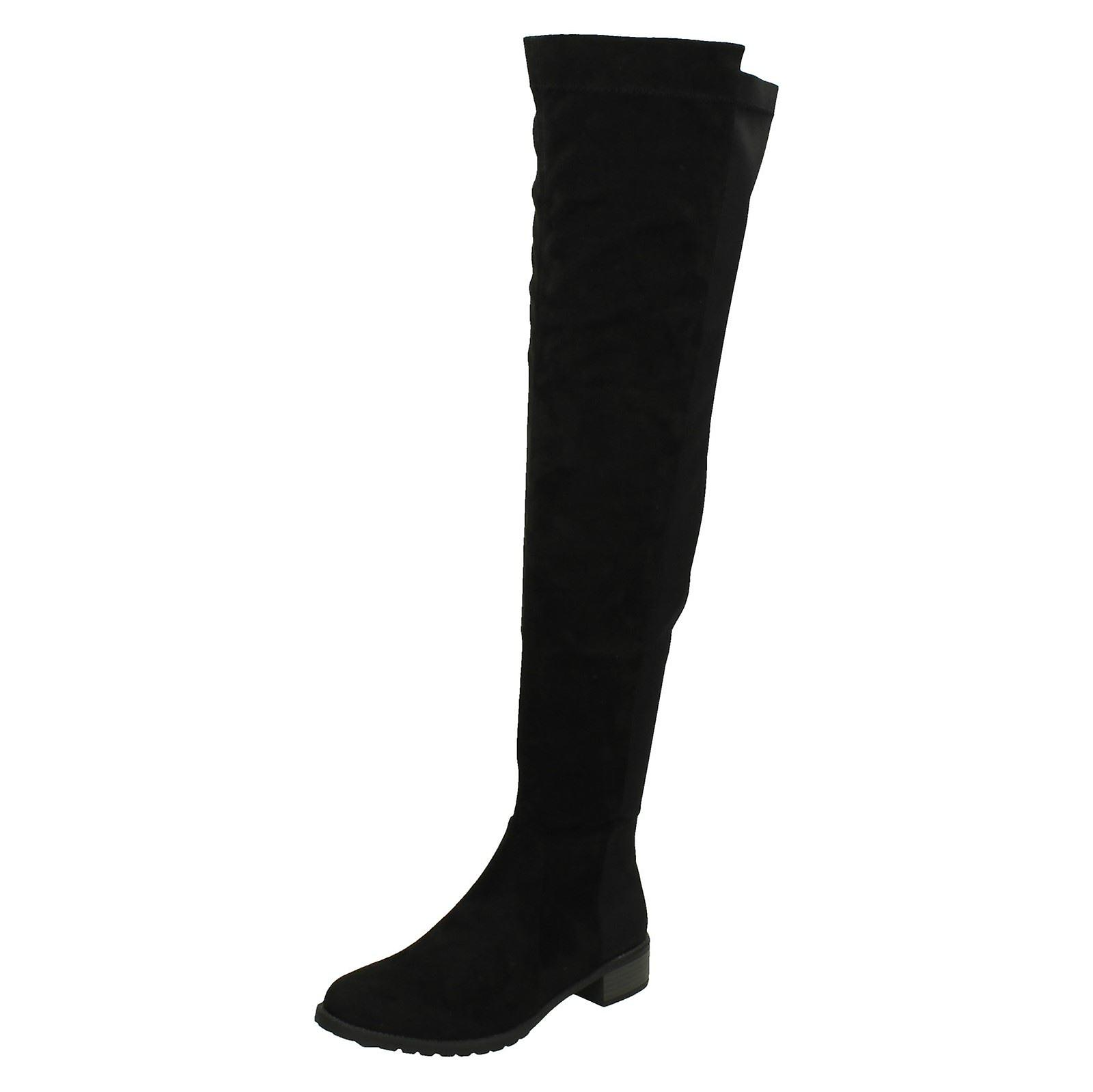 Ladies Spot On Over The Knee Boots F50869 OTTPW