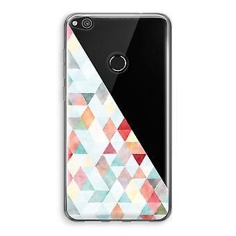 Huawei Ascend P8 Lite (2017) Transparant fall (Soft) - färgade trianglar pastell