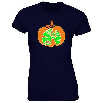 Halloween pumpa kostym maskeraddräkter glöd i den mörka Halloween Womens T-Shirt 8 färger (8-20) av swagwear