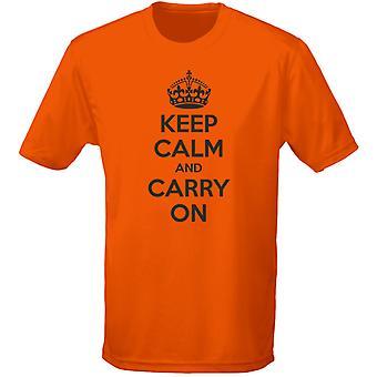 Hålla lugn och bära på Kids Unisex T-Shirt 8 färger (XS-XL) av swagwear