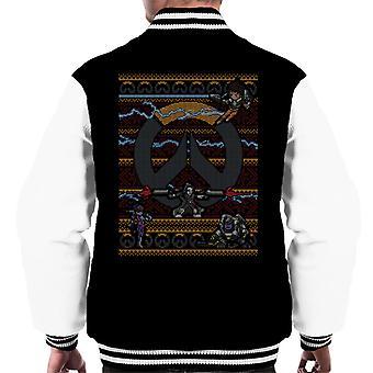 Overwatch Logo joulu neulo kuvio miesten yliopistojoukkue takki
