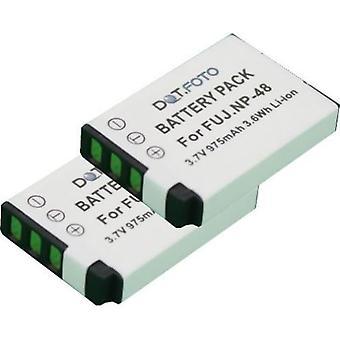 2 x Dot.Foto Fujifilm NP-48 reemplazo batería - 3.6v / 975mAh