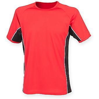 Finden & Hales Mens Performance Panel T Shirt Shirt