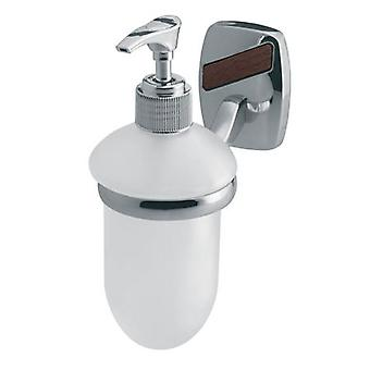 Wall Mounted Grip + Liquid Soap Tempered Glass Dispenser Bathroom Chromed Zamak
