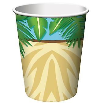 Jungle rally cups 8 piece 256ml children birthday theme party party birthday