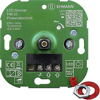 Ehmann 4600x0300 Flush-mount dimmer Suitable for light bulbs: LED bulb, Energy saving bulb, Halogen lamp, Light bulb